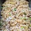 鶏ナンコツひき肉と切干大根の中華風