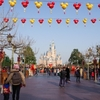 2月上海遠征② 春節の上海ディズニーでグーフィとグリ / 太鼓イベント