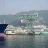 船から堪能する三菱重工長崎造船所