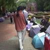 人民広場の婚活傘。