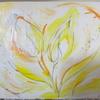 お花の絵と描き方。絵の具はやっぱりリキテックス。