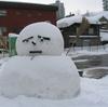 雪だるまの写真修正・・・表情を変える