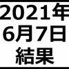 2021年6月7日結果 含み損拡大