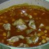 夏も美味しいヒヨコ豆のトマトスープ煮。