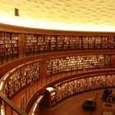 図書館の本を読む