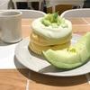 タカミメロン1/4玉使用♡ 奇跡のパンケーキ「メロンづくし」(FLIPPER'S @元町・中華街)