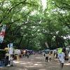 日頃の行いについては全く記憶にございません #森の手づくり市 #がまぐち #糺ノ森 #kyoto  #下鴨神社