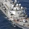 米イージス艦衝突7人不明 伊豆沖、比籍コンテナ船と