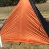 快速旅団夢殿テント内で薪ストーブ使用と、LOCUS GEAR Khufu CTF3 を試し張りした デイキャンプにて