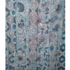 着物生地(300)縞に花更紗模様手織り紬
