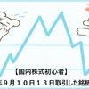 【国内株式初心者】2021年9月10日13日取引した銘柄の記録