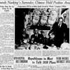 終日の爆撃を伝える南京発AP電/飛行機から投降勧告ビラを投下と伝える上海発AP電 Spokane Chronicle 紙 1937.12.9