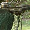 凍った手水の水