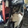#バイク屋の日常 #ホンダ ジャイロキャノピー #パーキングブレーキケーブル交換