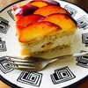 ネクタリンのケーキ