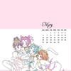 イラスト・カレンダー壁紙【5月】