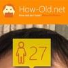 今日の顔年齢測定 20日目