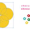 Illustratorでお花のおはじきを描く手順