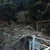 大雨で土砂崩れ(・ω・)ノ