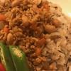 切り干し大根の炊き込みご飯 と 鶏ひき肉と大豆のドライカレー