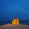 【香川県の直島に1泊2日ひとり旅・7】ライトアップされた黄色かぼちゃ