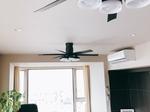 藤沢市片瀬海岸でのオーデリック製シーリングファンライト2台設置のご紹介 タイムラプス動画あり