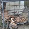 薪ストーブ始生代105 崩れた薪棚を修復