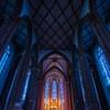 シャガールブルーのステンドグラスのある教会へ行った話