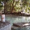 森の中の絶景露天風呂
