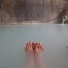 地熱発電所近くの松川温泉「峡雲荘」で白濁の硫黄泉を楽しむ