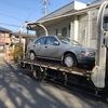 千葉市中央区からレッカー車で車検の切れた故障車を廃車の引き取りしました。
