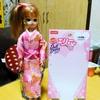 ダイソーオリジナルのエリーちゃん人形用の着物をリカちゃんに着せたら普通に着れた