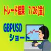 【トレード報告】GBPUSDのショートが炸裂!順調に利益確定!!
