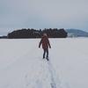 雪の休日は嬉しがって散歩(笑)