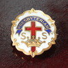 USAヴィンテージピンバッジ白10KGF|PRESBYTERIAN教会日曜学校メンバーブローチ [ACS-18-002]