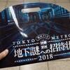 東京メトロ&SCRAP presents 地下謎への招待状 2018