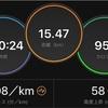 15kmゆるジョグ。