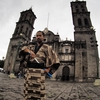 SAMURAI世界旅行記|メキシコ世界遺産の街プエブラのカテドラル(大聖堂)にて