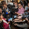 1月16日、ゲレンデ―ル市庁舎にて・・・物凄い数のメディアにびっくり