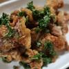 パセリの大量消費が叶うレシピ2・カリカリ豚こまのパセリポン酢和え
