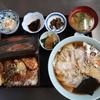 春の嵐の中、いつもの食堂で天丼とワンタンメンでお昼にしました @大網白里 まつや食堂
