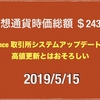 【仮想通貨下落相場から約1年でステラ以外トレンド変換】2019/5/15 仮想通貨時価総額26兆8000億 ドル109円後半