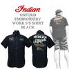 インディアンモトサイクル【INDIANMOTOCYCLE 】 × 刺繍ワークシャツ × 涼しいオックスフォードシャツ