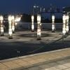夕食後の散歩にて in 日産スタジアム