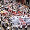 天安門事件に似た香港デモ集会