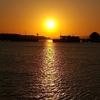 大牟田世界遺産の三池港閘門、光の航路