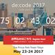 de:code 2017 のスケジュールが決定していたので晒してみる