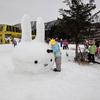 まだ少雪は続く・・・群馬県片品村のかたしな高原スキー場にて。
