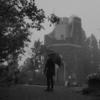 霧の六甲山と夜の神戸をモノクロで撮る