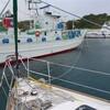八丈島神湊港にて無事、台風4号をしのぐ